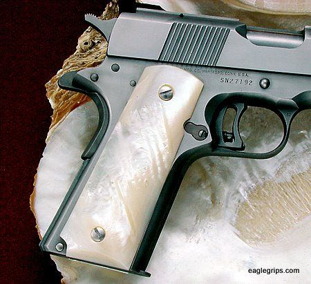 Genuine Mother Of Pearl 1911 Grips #623