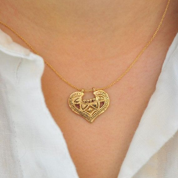 14k Gold Necklace  Solid Gold Necklace  by malkaravinajewelry