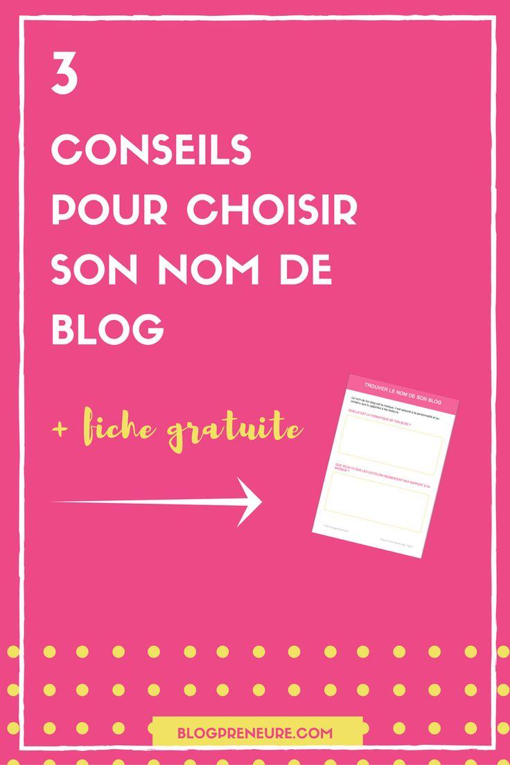 Tu souhaites lancer un blog et tu manques peut-être d'idées pour trouver le nom de ton blog. Voici 3 conseils qui peuvent t'aider. En bonus une fiche pratique à télécharger. via @blogpreneure