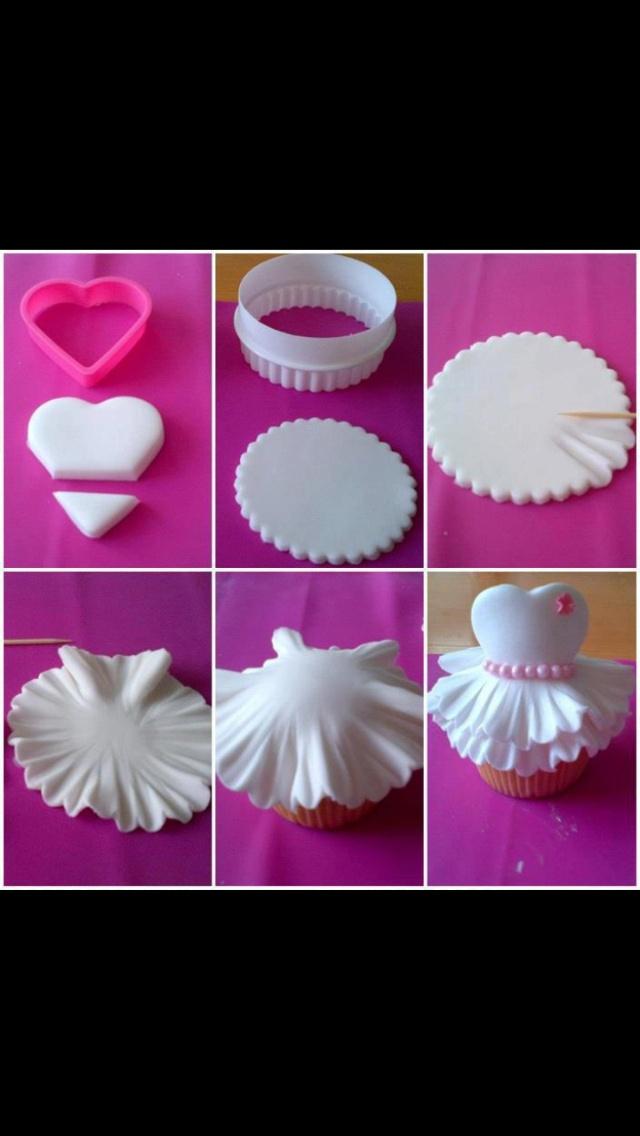Cupcake de bailarina   Galletas y tartas ballet   Pinterest