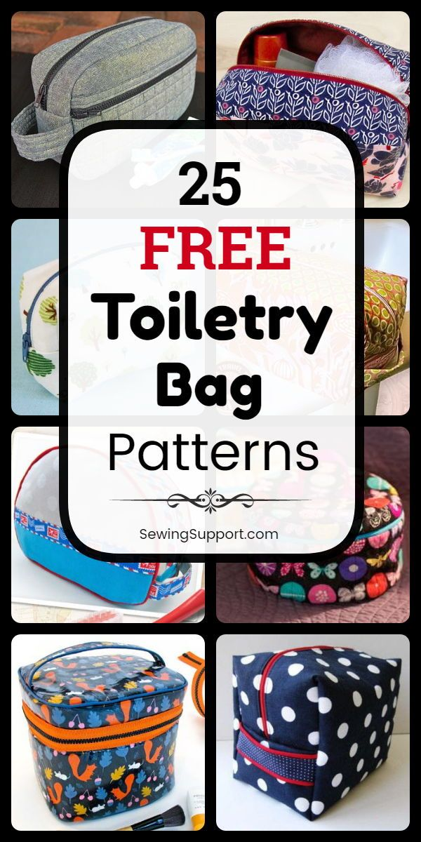 Bag DIY: 25 free samples for toiletry bags, DIY projects and sewing instructions. Zipp …   – 2 sew: bags