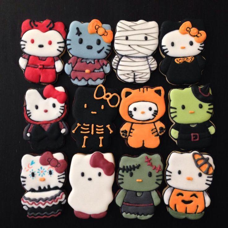 2069 best Holiday Fun images on Pinterest Halloween prop - hello kitty halloween decorations