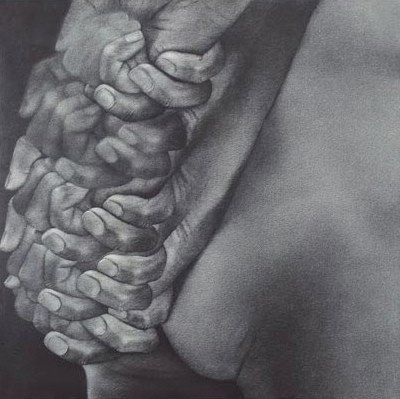 "Artville Artist of the day Rameshwar Broota Medium: Collected and Pooled, Size: 60"" X 60"", Medium: Oil on Canvas year Year: 2003"