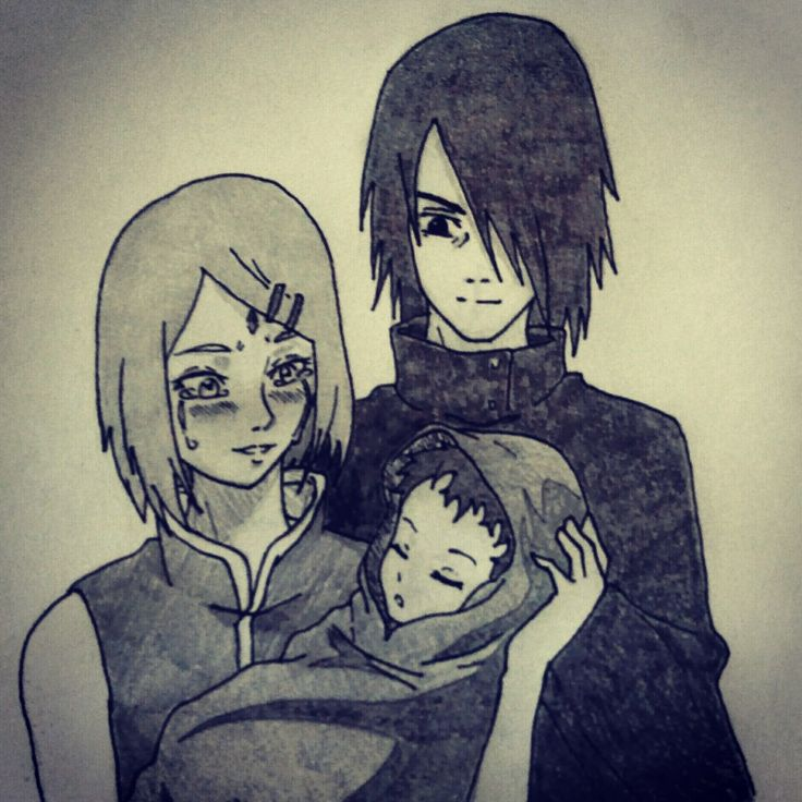 Uciha family #sakura #sasuke #sarada