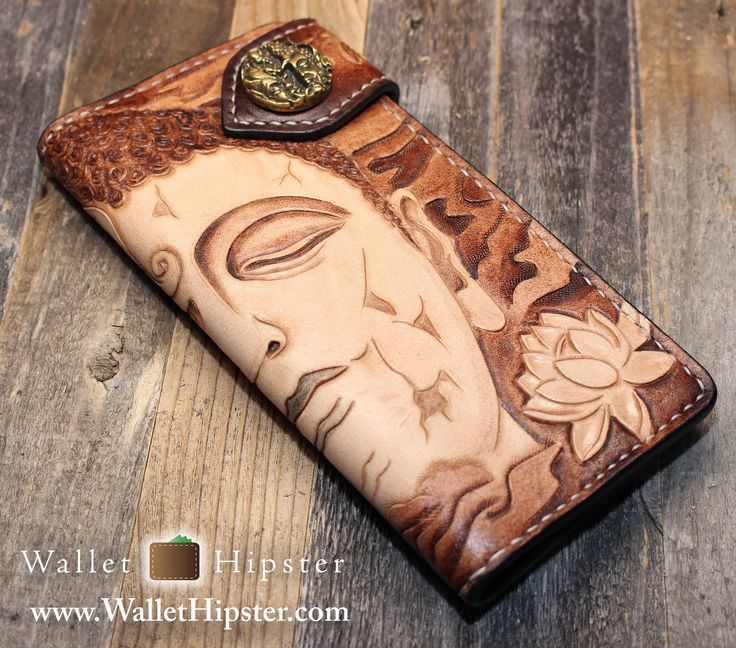 Hand-Engraved Bodhisattva Design Long Wallet — FREE SHIPPING — Limited…