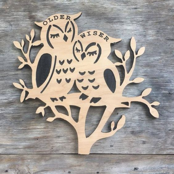 Owl Wooden Wall Hanging Decor - Can be personalized. by Southernkeeps on Etsy