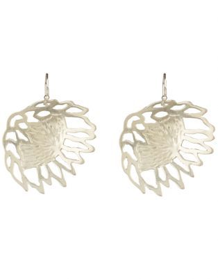 Janine Binneman Jewellery Design Protea Earrings Sterling Silver