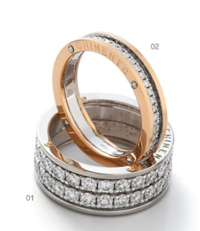 Chimento-Aeternitas-web-mar 2013,01 White gold ring with diamonds,02 White and rose gold ring with diamonds
