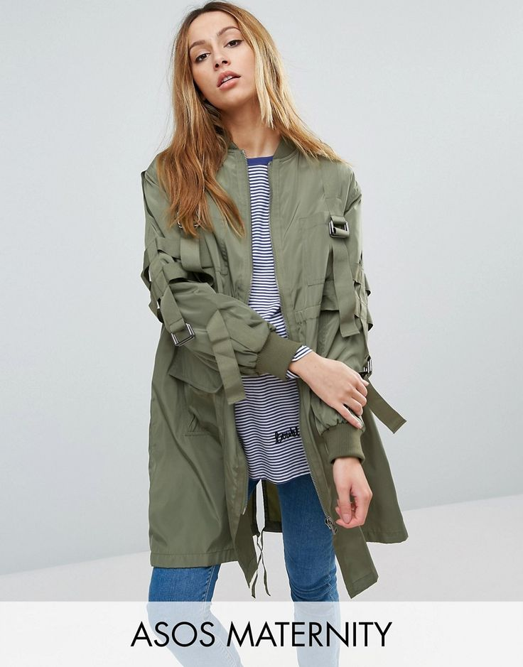 Get this Asos Maternity's parka now! Click for more details. Worldwide shipping. ASOS Maternity Longline Parka with Parachute Strapping - Green: Maternity coat by ASOS Maternity, Smooth woven fabric, Baseball collar, Zip fastening or Button, Functional pockets, Longline cut, Fits longer than the standard length, Designed to fit through all stages of pregnancy, Machine wash, 100% Polyester, Our model wears a UK 8/ EU 36/ US 4 and is 173cm/5'8 tall. Maternity dressing gets bumped up to…