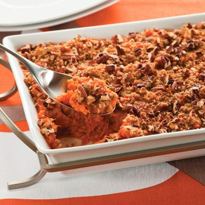 Sweet Potato & Pumpkin Casserole. I am adding this to my Thanksgiving dinner menu for sure!