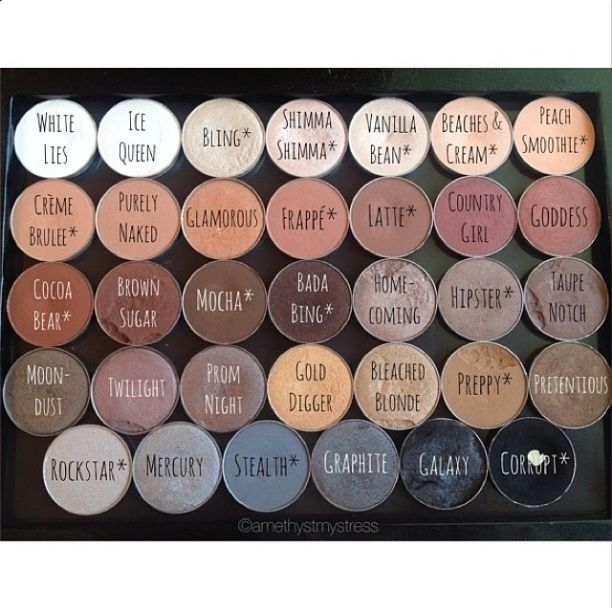 Beautifully organized neutral Z-Palette full of Makeup Geek Shadows! <3 Posted by @amethystmystress on IG.