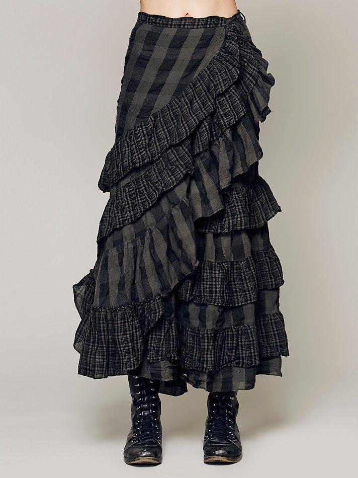 Free People Enya Plaid Skirt, $268.00