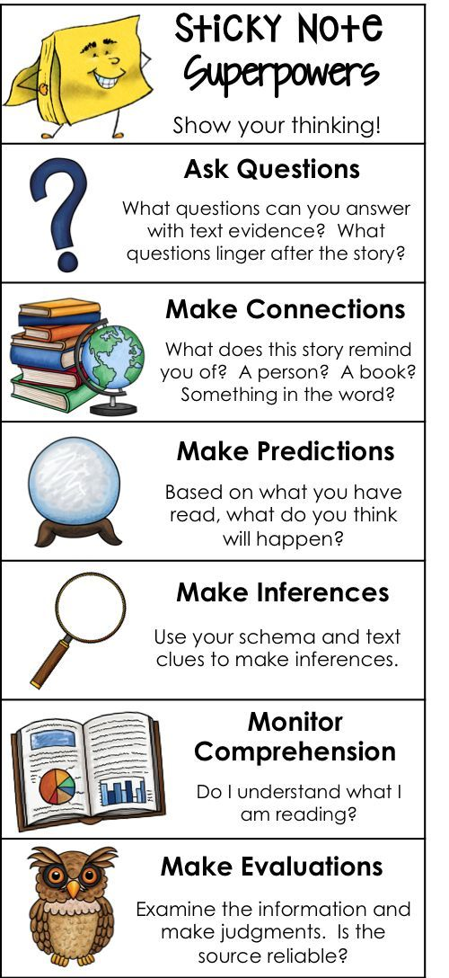 105 best guided reading images on pinterest teaching ideas school free download bookmarks for reading comprehension strategies sticky note superpowers fandeluxe Choice Image