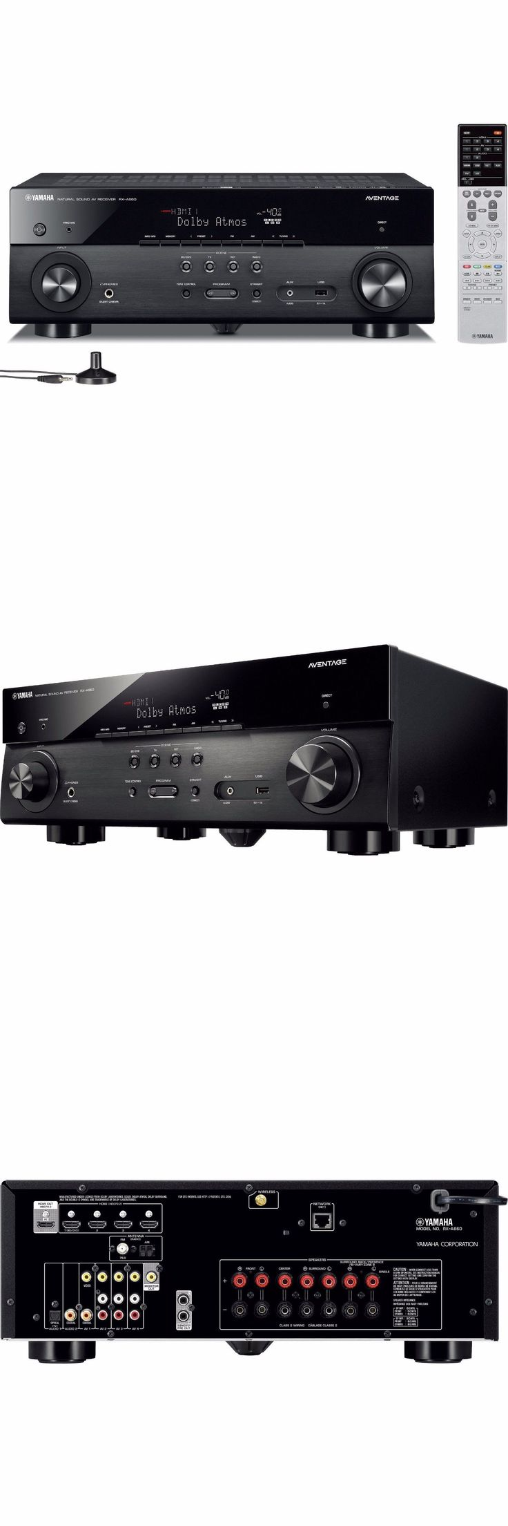 Home Theater Receivers: Yamaha Aventage Rx-A660bl 7.2-Channel Network A/V Receiver BUY IT NOW ONLY: $499.97