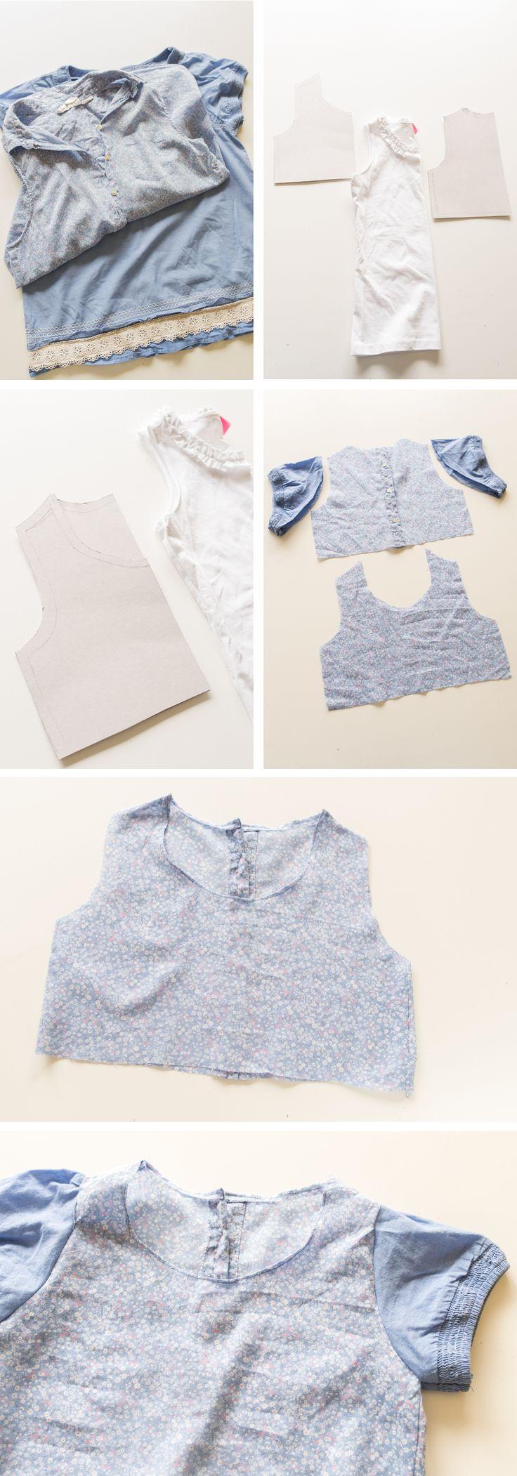 DIY - Inspiration: upcycling Kinderkleid aus zwei Blusen - Leelah Loves