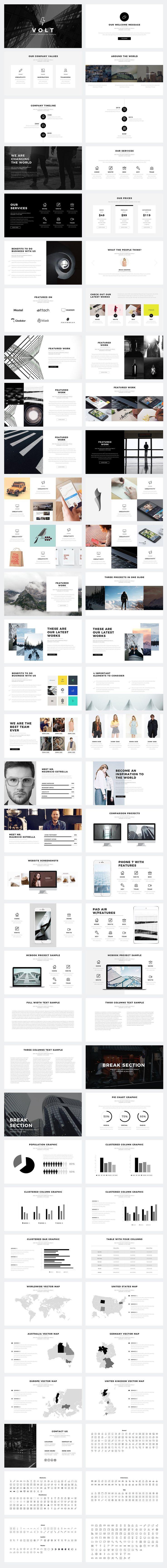Volt Minimal PowerPoint Template by SlidePro on @creativemarket