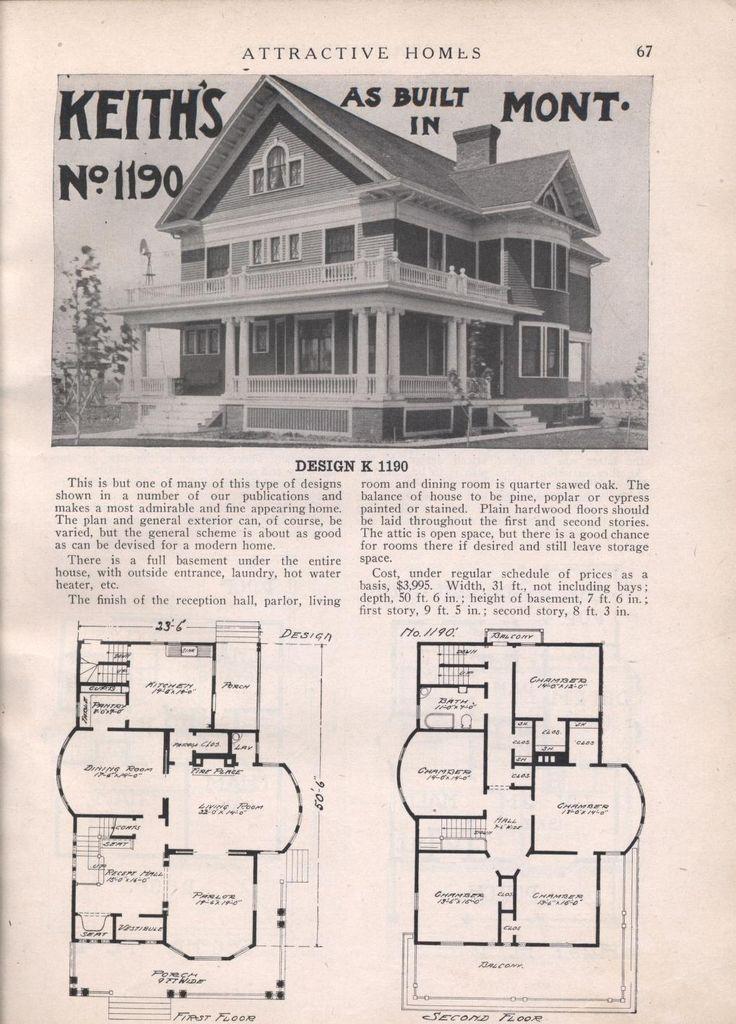 571 Best Images About Vintage House Plans On Pinterest