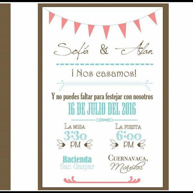 Mas invitaciones de boda!! #boda #wedding #weddinginvitation #trendy #instalike #colors #invitacion #invitacionesdeboda