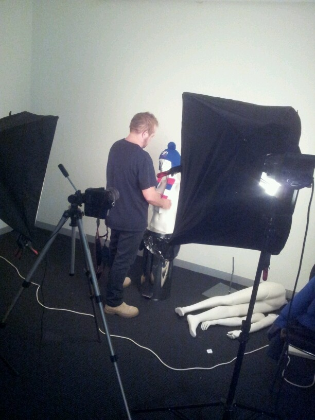 Western Bulldogs accessories photo shoot action.