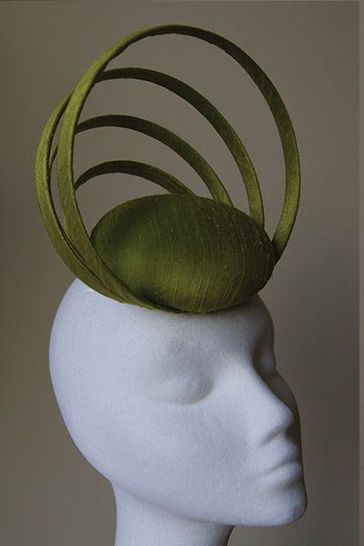 Esther Louise Millinery #millinery #judithm #hats blocking buckram and covering in silk shantung