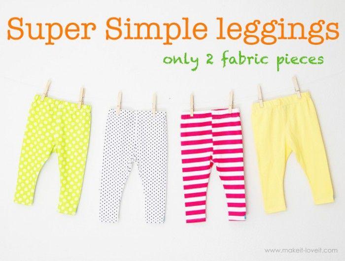 zelf leggings voor je kids naaien