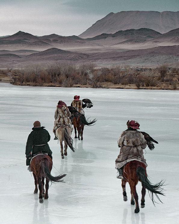 Mongolia March 2011 Kazakhs eagle hunting Photograph: Jimmy Nelson