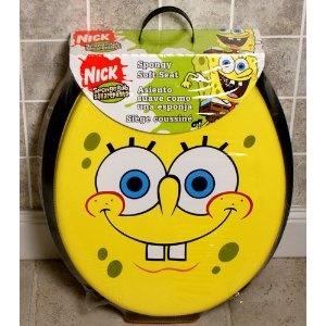 Ginsey Sponge Bob Grin Spongy Soft Padded Toilet Seat 24