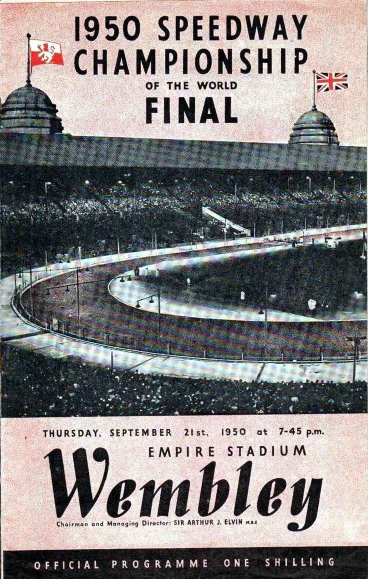 programme, 1950 World Speedway Final at Wembley