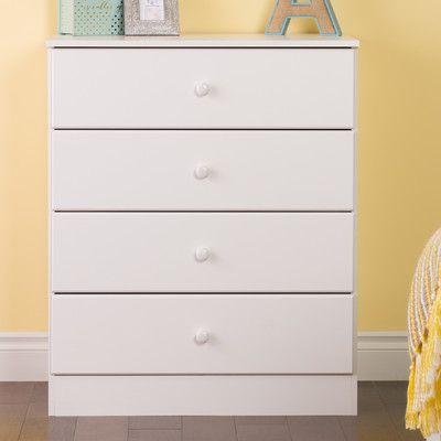 bailey 4 drawer dresser color white