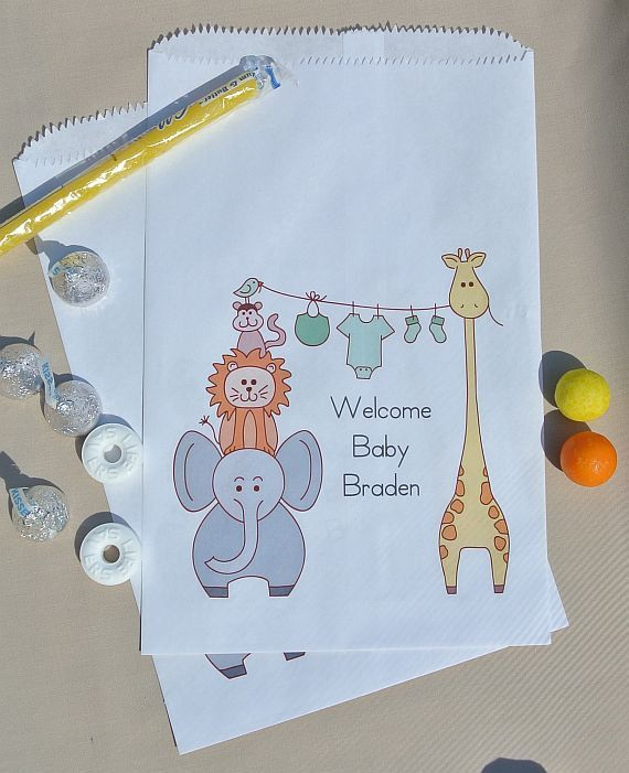 Baby Shower Candy Buffet Bags by abbeyandizziedesigns on Etsy, $27.00