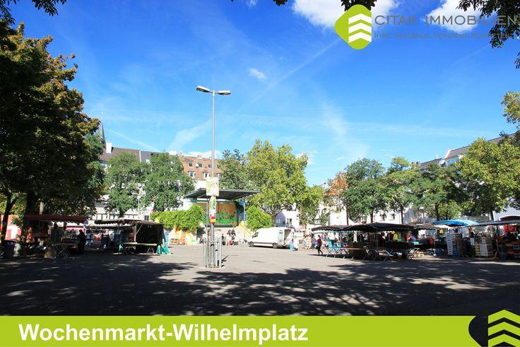 Wochenmarkt Wilhelmplatz in Köln-Nippes