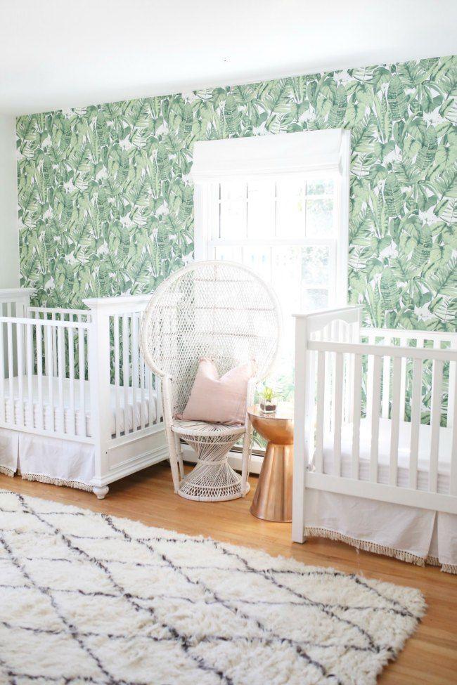 habitacin de estilo tropical para dos bebs gemelos la tendencia tropical inunda nuestros hogares