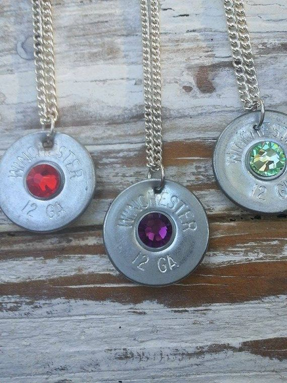 Shotgun necklace bullet jewelry bullet by SouthernTouchDesigns