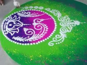 Wedding Rangoli Design Diwali Rangoli How to draw Sanskar Bharati Rangoli - YouTube