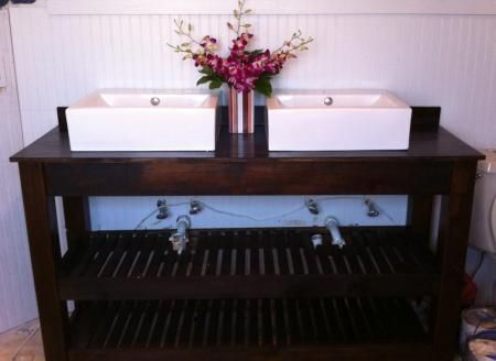 Spa Slatted Double Vanity   Do It Yourself Home Projects from Ana White. 17 Best images about DIY Bathroom Vanity on Pinterest   Vanities