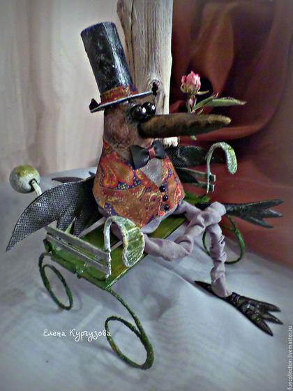 Куклы и игрушки ручной работы. Ярмарка Мастеров - ручная работа. Купить Ворон Панкрат. Handmade. Коричневый, подарок,…
