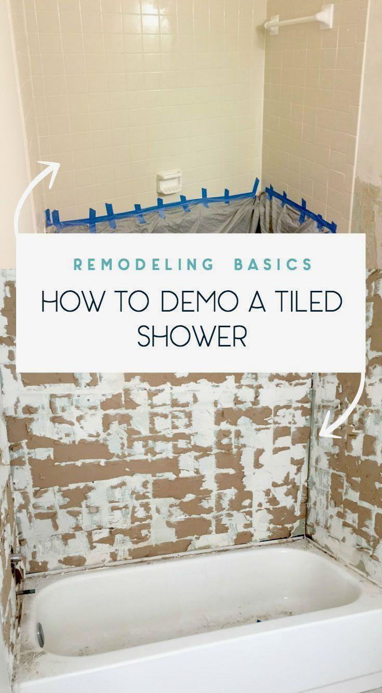 Tips On How To Remove Old Shower Tile Shower Remodel Shower Tile Diy Bathroom Remodel