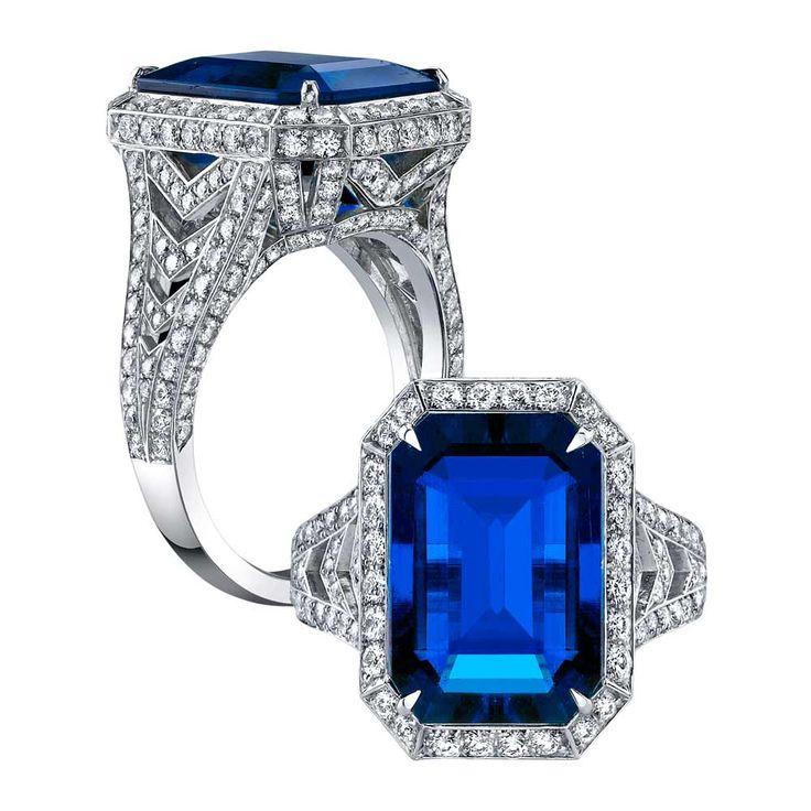 best 25 emerald cut sapphire ring ideas on pinterest. Black Bedroom Furniture Sets. Home Design Ideas