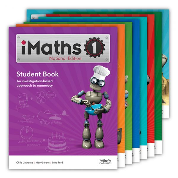 iMaths Student Workbook.  iMaths is an investigation-based numeracy program that comprehensively addresses both the content and proficiency strands of the Australian Curriculum. The program provides everything you need to plan, implement and assess a comprehensive maths program that meets the individual requirements of the classroom – Foundation to Year 6 (up to Year 7 in WA, QLD and SA). http://www.educationstore.com.au/catalogue/mathematics/imaths-student-workbook