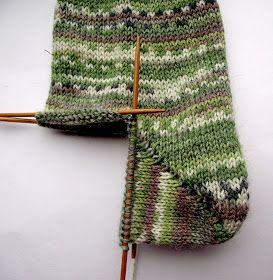 tru-knitting: Носочная пятка «бумеранг». Мастер-класс с фото.