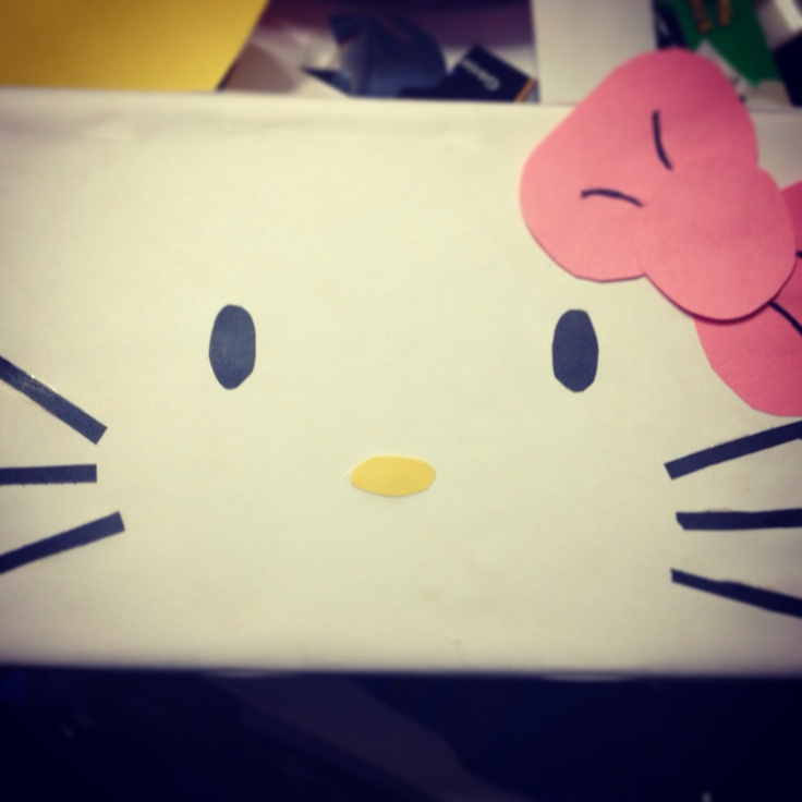 Hello Kitty Valentines Day Box :) All made out of construction paper!