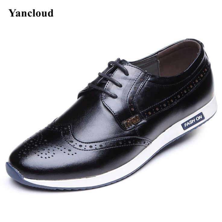 >> Click to Buy << Spring Autumn Vintage Genuine Leather Men's Brogues Shoes Breathable Casual Shoes Men Business Leather Shoe Mocassin Homme #Affiliate