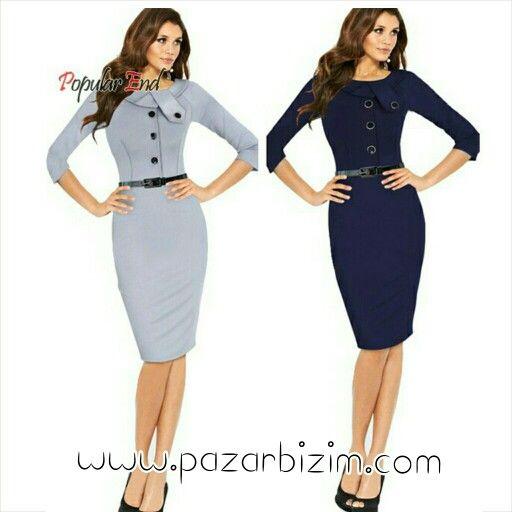 Zarif Diz Boyu Elbise 60 TL  Ürün detayları için sitemizi ziyaret ediniz.   #BayanGiyim #Elbise #UygunFiyat