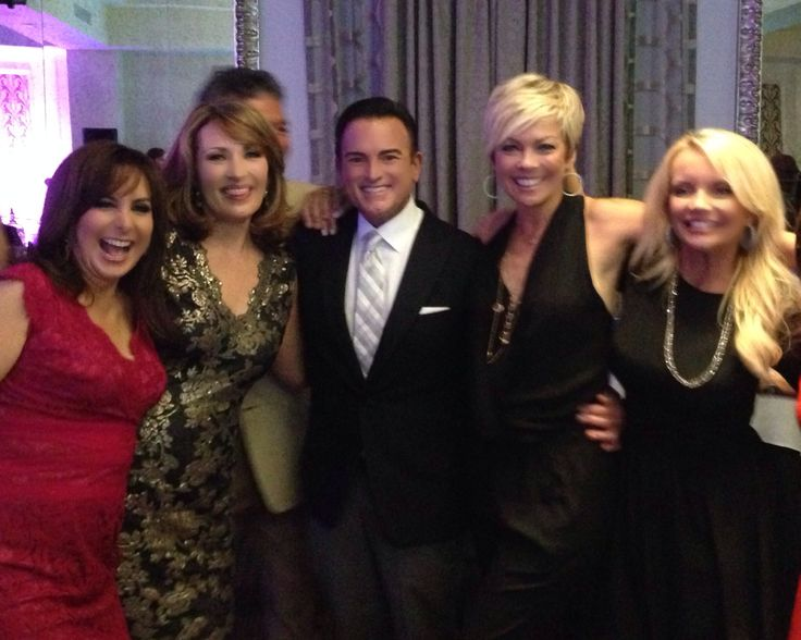 Shivan Sarna, Colleen Lopez,  Bill Green,  Callie Northagen and Connie Craig Carroll all  celebrating HSN host anniversaries
