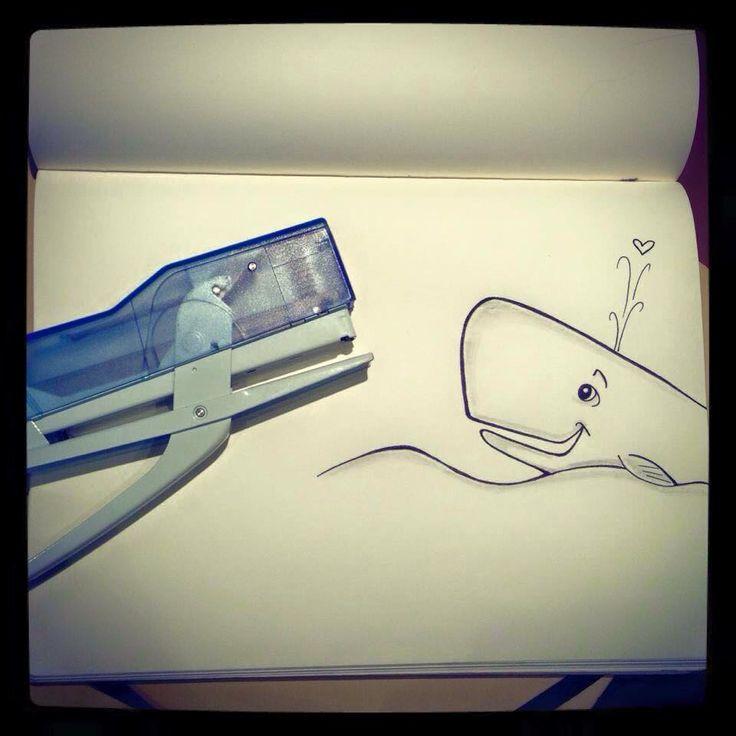 Balena innamorata di una cucitrice
