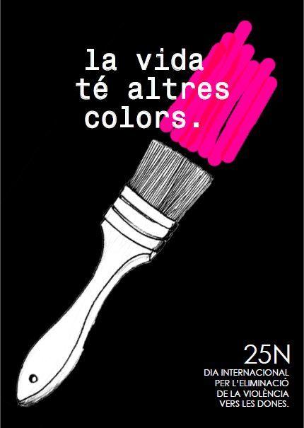 cartells  violencia de genere pintura pincell color