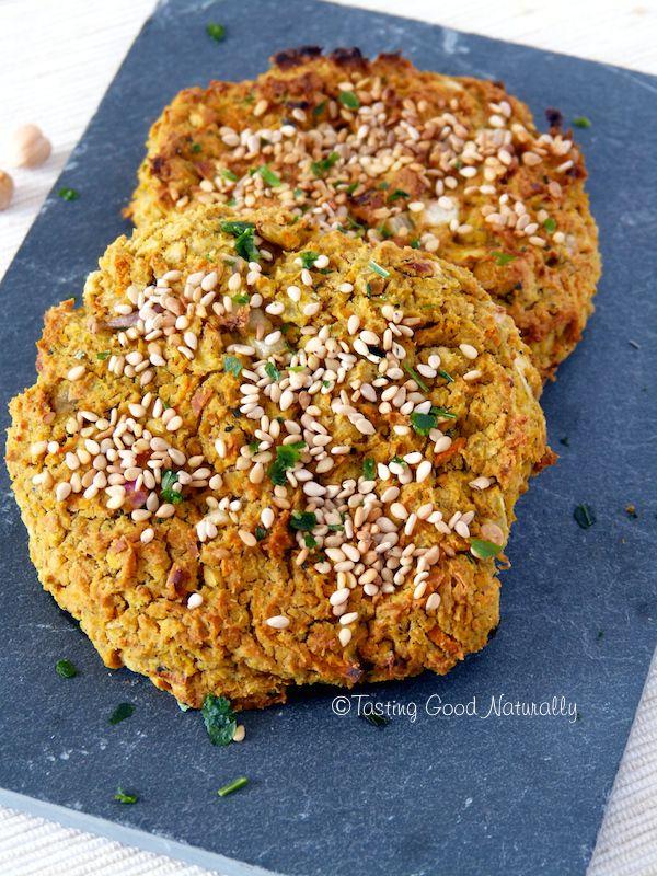 Tasting Good Naturally : Burger aux pois chiches, sarrasin, carottes et épices Laksa (galettes) #vegan