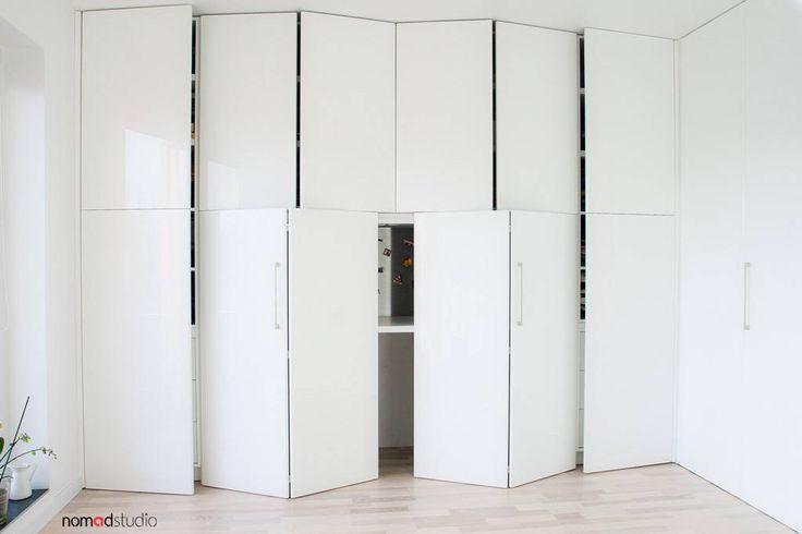 Zdjęcia: Minimalistyczny Domowe biuro i gabinet, czarno - biała kawalerka