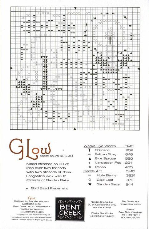 Free Bent Creek Cross Stitch   glow
