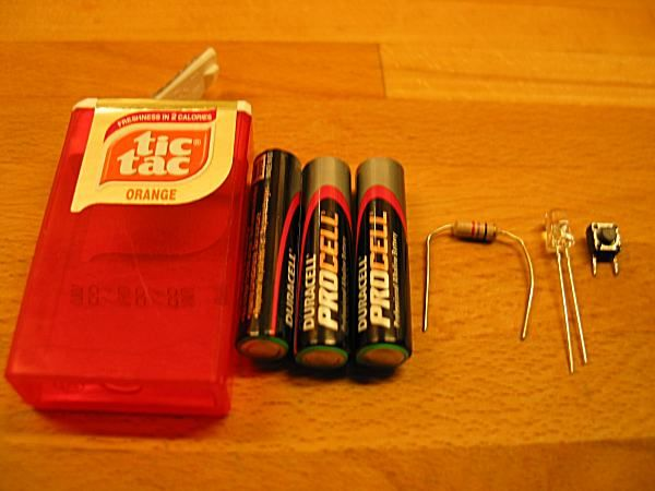 TicTac flashlight. Must give it a try!